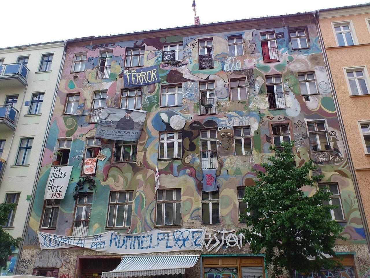 Besetztes Haus in Berlin Kreuzberg